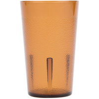 Cambro 500P2153 Colorware 5.2 oz. Amber Plastic Tumbler - 24/Case