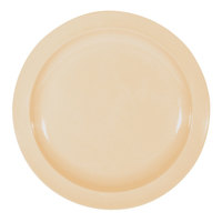 Nustone Tan 5 1/2 inch Melamine Plate - 12/Pack