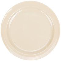 Nustone Tan 5 1/2 inch Melamine Plate - 12/Case
