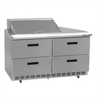 Delfield D4448N-8 48 inch 4 Drawer Refrigerated Sandwich Prep Table