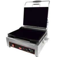 Cecilware SG1LF Single Plus Panini Sandwich Grill with Flat Grill Surfaces - 14 1/8 inch x 11 inch Cooking Surface - 120V, 1800W