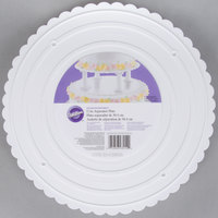 Wilton 302-12 Decorator Preferred Round Scalloped Edge Cake Separator Plate - 12 inch