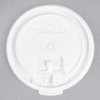 Dart Solo LB3161 12, 16, and 20 oz. White Plastic Tab Lid - 100/Pack