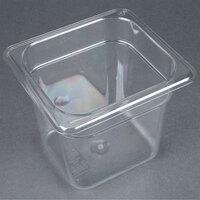 Carlisle 3068507 StorPlus 1/6 Size 6 inch Deep Clear Food Pan