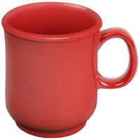 Thunder Group N-901PR 8 oz. Pure Red Bulbous Melamine Mug - 12/Pack