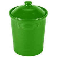 Homer Laughlin 571324 Fiesta Shamrock Small 1 Qt. Canister with Cover - 2/Case