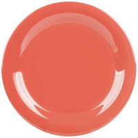 GET NP-9-RO Diamond Mardi Gras 9 inch Rio Orange Narrow Rim Round Melamine Plate - 24/Case