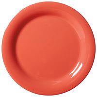 GET NP-9-RO Diamond Mardi Gras 9 inch Rio Orange Narrow Rim Round Melamine Plate - 24 / Case