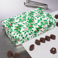 9 3/8 inch x 5 5/8 inch x 2 inch 2-Piece 2 lb. Holly / Holiday Candy Box   - 125/Case