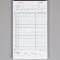Choice 1 Part Green and White Guest Check with Beverage Lines and Bottom Guest Receipt - 50/Case
