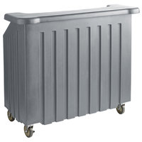 Cambro BAR540191 Cambar® Granite Gray 54 inch Portable Bar with 5-Bottle Speed Rail