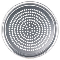 American Metalcraft SPHATP7 7 inch Super Perforated Heavy Weight Aluminum Wide Rim Pizza Pan