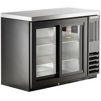 Beverage-Air BB48HC-1-GS-B-27 48 inch Black Counter Height Sliding Glass Door Back Bar Refrigerator