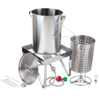 Backyard Pro All Stainless Steel 30 Qt. Turkey Fryer Kit / Steamer Kit