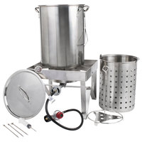 Backyard Pro All Stainless Steel 30 Qt. Turkey Fryer Kit / Steamer Kit