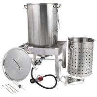 Backyard Pro All Stainless Steel 30 Qt. Turkey Fryer Kit / Steamer Kit - 55,000 BTU