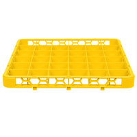 Carlisle RE36C04 OptiClean 36 Compartment Yellow Color-Coded Glass Rack Extender