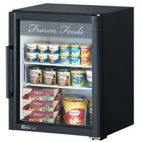 Turbo Air TGF-5SDB-N Super Deluxe Black Countertop Display Freezer with Swing Door