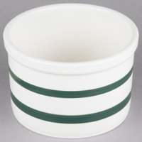 CAC JAR-7 Green Striped China Bain Marie Jar 56 oz. - 6/Case