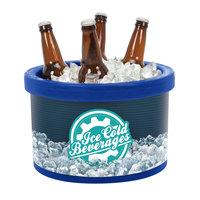 IRP 3101496 Blue Ice Cube 4 Qt. Countertop Merchandiser