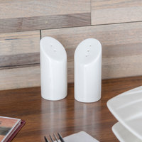 Tablecraft 164 China 2 oz. Angled Top Salt and Pepper Shaker Set - 6/Case