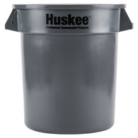 Continental 1001GY Huskee 10 Gallon Gray Trash Can