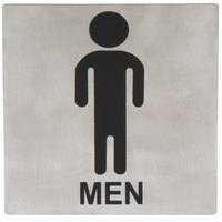 Tablecraft B10 Men's Restroom Sign - Stainless Steel, 5 inch x 5 inch