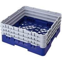 Cambro BR712186 Navy Blue Camrack Full Size Open Base Rack with 3 Extenders