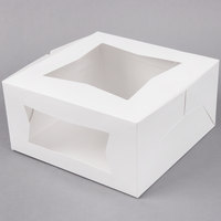 10 inch x 10 inch x 5 inch White Window Cake / Bakery Box - 10 / Bundle