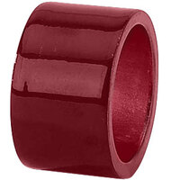 Tabletop Classics AC-6512R Red 1 3/4 inch Round Acrylic Napkin Ring