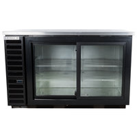 Beverage Air BB58HC-1-GS-B 59 inch Back Bar Refrigerator with 2 Sliding Glass Doors 115V