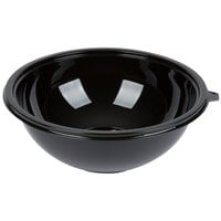 Fineline 5160-BK Super Bowl 160 oz. Black PET Plastic Bowl - 25/Case