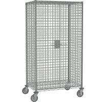 Metro SEC55DC Chrome Mobile Standard Duty Security Cabinet Wire 52 3/4 inch x 27 1/4 inch x 68 1/2 inch