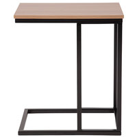 Flash Furniture NAN-ST6819-GG Aurora 19 inch x 13 1/2 inch x 22 inch Rectangular Rustic Wood Grain Finish Side Table with Black Metal Cantilever Base