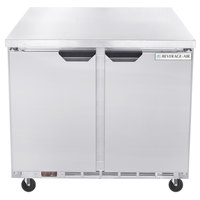 Beverage-Air WTR36AHC-FLT-23 36 inch ADA Height Worktop Refrigerator with Flat Top