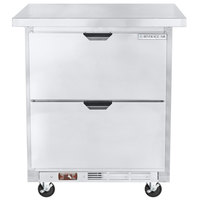 Beverage-Air WTFD27AHC-2-W32-FLT 32 inch Two Drawer Undercounter Freezer with Flat Top