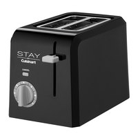 STAY by Cuisinart WPT220BK 2 Slice Black Toaster