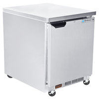 Beverage-Air WTF27AHC-FLT-09-23 27 inch Compact ADA Height Worktop Freezer with Flat Top and Door Locks