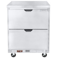 Beverage-Air WTRD27AHC-2-FLT 27 inch Compact Undercounter Refrigerator with Two Drawers