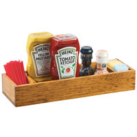 Cal-Mil 3669-99 Madera 15 3/4 inch x 5 inch x 2 1/2 inch 3 Section Reclaimed Wood Condiment Caddy