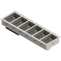 Vollrath FC-4DH-06208-T 6 Pan Drop-In Hot Food Well with Thermostatic Controls - 208-240V