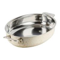 Bon Chef 60002DESERT Cucina 2.5 Qt. Desert Stainless Steel Oval Au Gratin Dish