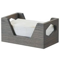 Cal-Mil 3810-83 Ashwood Gray Oak Wood Napkin Holder - 9 inch x 5 inch x 4 1/2 inch