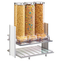 Cal-Mil 1499-15 Eco Modern White Bamboo Cereal Dispenser with Three 2.7 Liter Bins