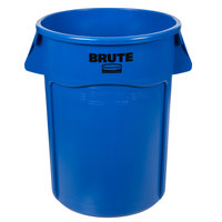 Rubbermaid FG264300BLUE BRUTE 44 Gallon Blue Trash Can