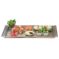 Cal-Mil 3672-1123 Cold Concept 23 1/2 inch x 11 1/2 inch x 1 1/2 inch Aluminum Platter