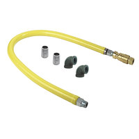 T&S HG-4D-48-FF Safe-T-Link 48 inch FreeSpin Quick Disconnect Gas Connector Hose with Elbows and Nipples - 3/4 inch NPT
