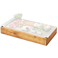 Cal-Mil 3699-1123-99 Madera Cold Concept 23 inch x 12 1/2 inch x 3 1/2 inch Reclaimed Wood Frame with Cold Pack and Liner