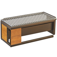 Cal-Mil 3917-84 Sierra Bronze Metal and Rustic Pine Chafer Alternative - 20 inch x 10 1/2 inch x 7 1/8 inch