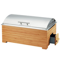 Cal-Mil 3821-60 Bamboo Full Size Chafer with Lid - 22 inch x 14 inch x 13 inch